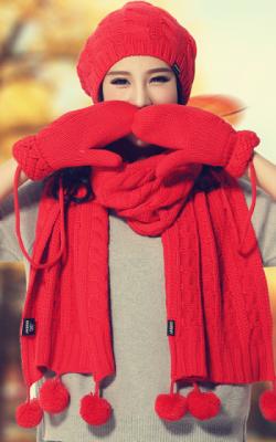 шапка шарф перчатки 2