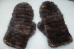 варежки из меха