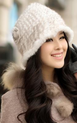 шапка из вязаной норки фото2