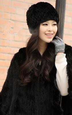 шапка из вязаной норки фото3