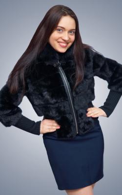 Женская норковая куртка фото