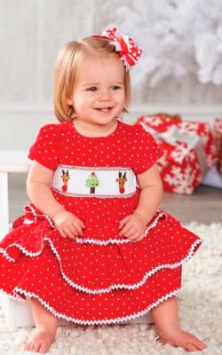 Новогоднее платье для девочки до 3 лет фото 1