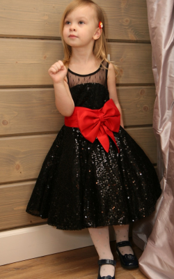 Новогодние платья с пайетками фото 1