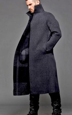 Однобортное мужское пальто фото 2