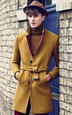 Однобортное мужское пальто фото 3