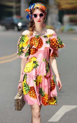 Платья с фруктами и овощами 2018 фото 1