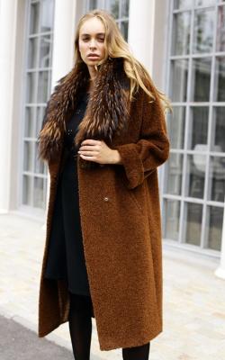 женское пальто из альпаки фото 1
