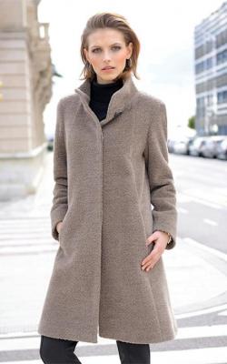 женское пальто из альпаки фото 2