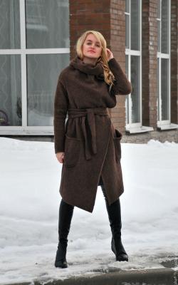 женское пальто из альпаки фото 3