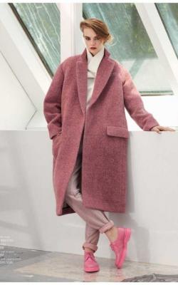 женское пальто из альпаки фото 16