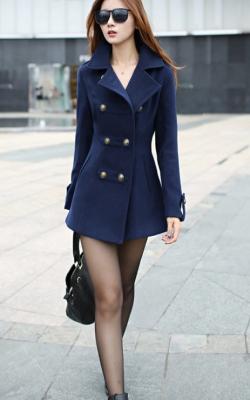 Кашемировое пальто милитари фото 1