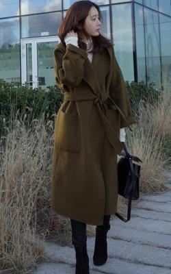 Кашемировое пальто милитари фото 2