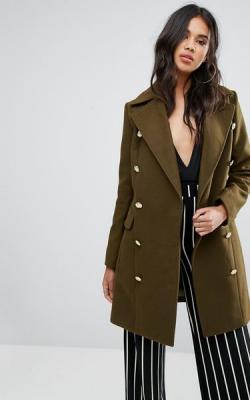Кашемировое пальто милитари фото 3