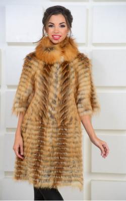 Меховое пальто из лисы фото 1