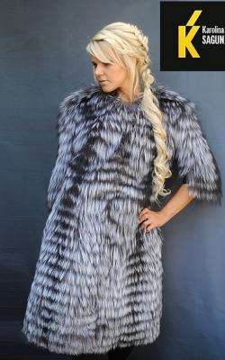 Меховое пальто из лисы фото 2