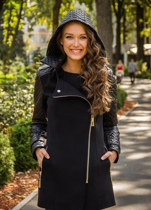 Женское пальто на молнии фото10