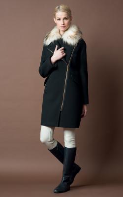 Женское пальто на молнии фото11