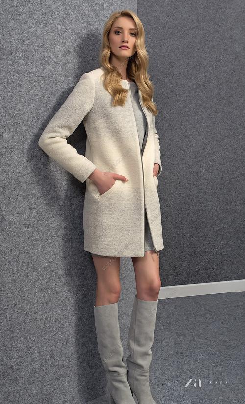 Женское пальто на молнии фото14
