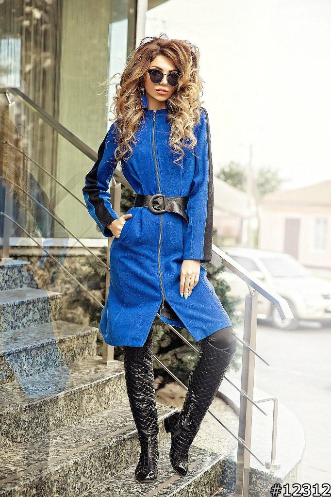 Женское пальто на молнии фото15