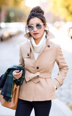 как красиво завязать пальто11