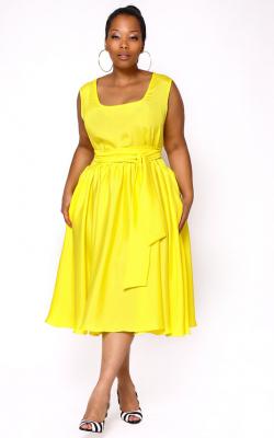 Модели платьев для полных 2018 фото 9