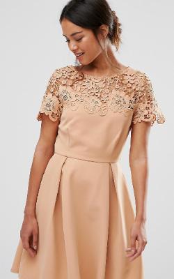 Платье с кружевным верхом 1