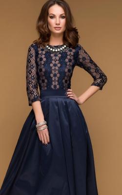 Платье с кружевным верхом 5