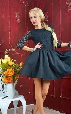 Платье с кружевным верхом 6