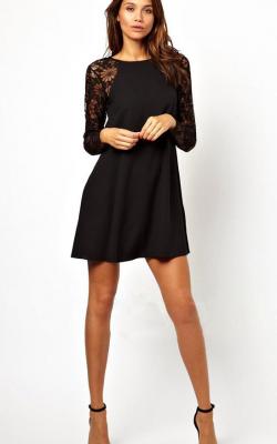 Платье с рукавами из кружевов 1