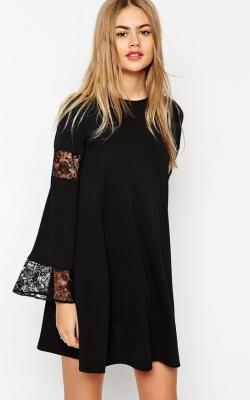 Платье с рукавами из кружевов 5