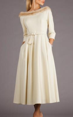 Платье с мехом 2018-2019 фото 2