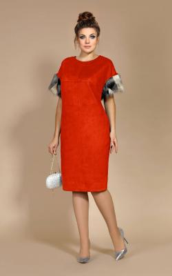 Платье с мехом 2018-2019 фото 3