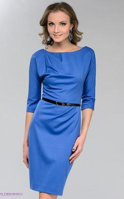 Офисное платье с рукавом 3-4 фото 1