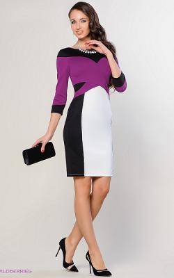 Офисное платье с рукавом 3-4 фото 2