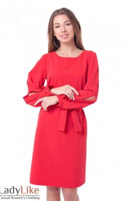 Офисное платье с рукавом 3-4 фото 3