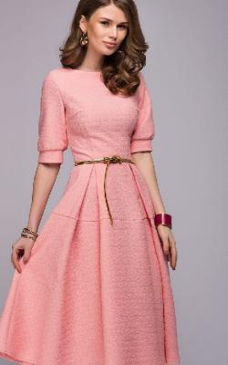 Офисное платье с расклешенной юбкой - фото 1