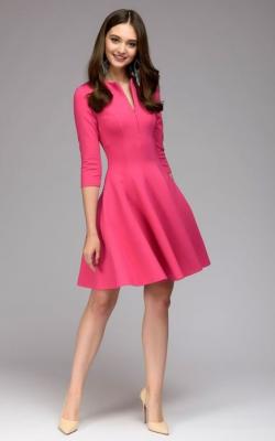 Офисное платье с расклешенной юбкой - фото 3