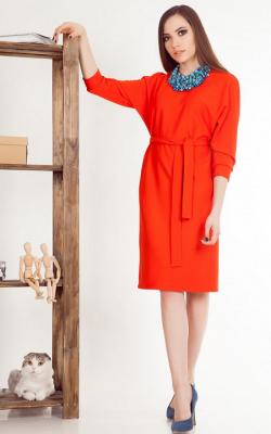 Офисное платье с рукавами лутучая мышь фото 3