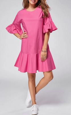 Платье с рукавом-коловолом фото 3