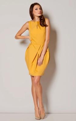 Офисное платье модель тюльпан фото 1