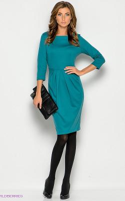 Офисное платье модель тюльпан фото 3
