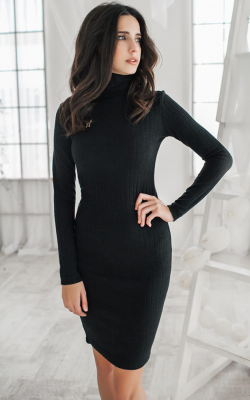 Платье водолазка 2018-2019 фото 2