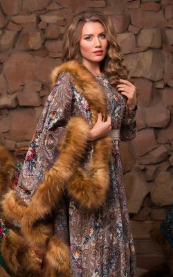 Павлопасадский платок с мехом фото 2