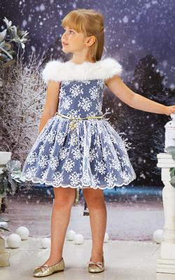 Новогодние платья с мехом фото 2