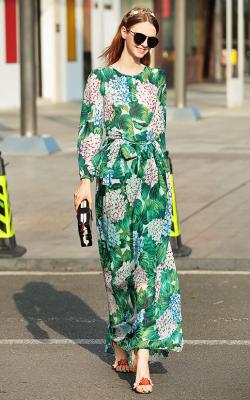 Модное платье 2018 принты фото 3