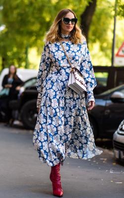 Модное платье 2018 принты фото 4