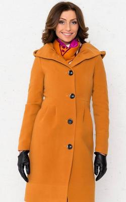 Приталенное пальто с капюшоном фото 1