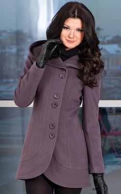 Приталенное пальто с капюшоном фото 2