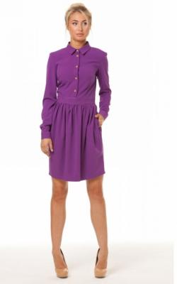 Фиолетовое платье рубашка 2