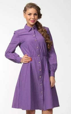 Фиолетовое платье рубашка 3
